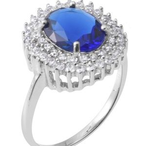 Blue Sapphire Ring Size 5